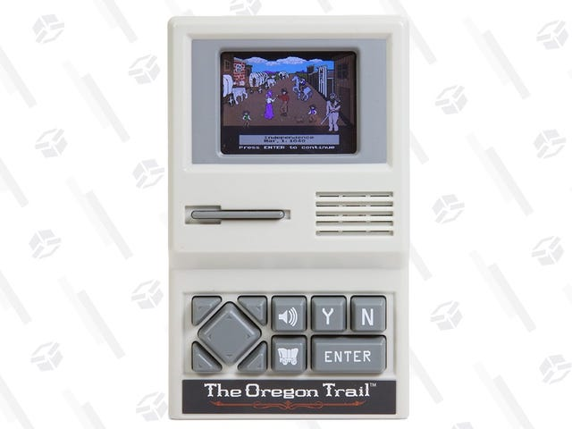 Relive Everyone's Favorite Traumatic Gaming Experience With This $10 Oregon Trail Handheld