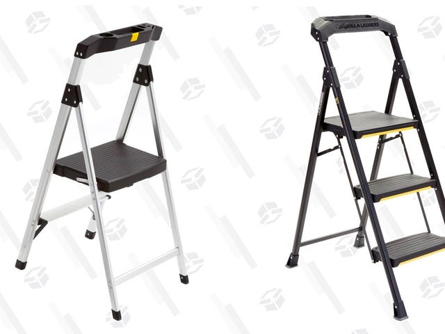 Grab Two Discounted Gorilla Step Ladders, While They Last