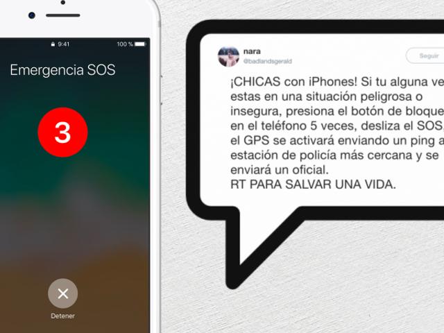 Un Virus falso y peligroso:el iPhonenuncaenvíatubicaciónapolicíícuandoactivas el modo emergencia