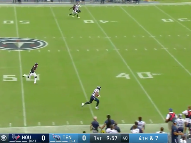 Titans Run A Very Neat Fake Punt For 66-Yard TD