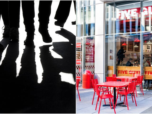 Five male individuals arrested at Five Guys