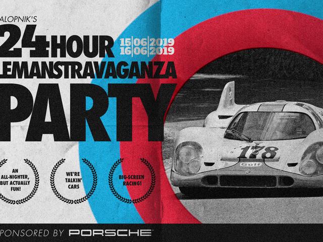 Chúng tôi sẽ tổ chức một bữa tiệc lớn cả ngày cho 24 giờ của Le Mans và bạn nên đến