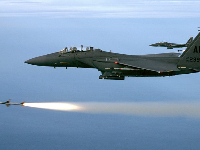 An American F-15E Just Shot Down An Armed Drone Over Syria