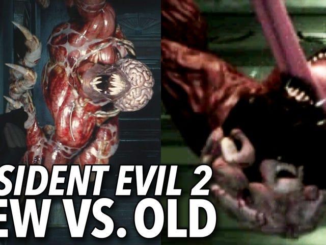 これが、 <i>Resident Evil 2</i>変化の度合いです。