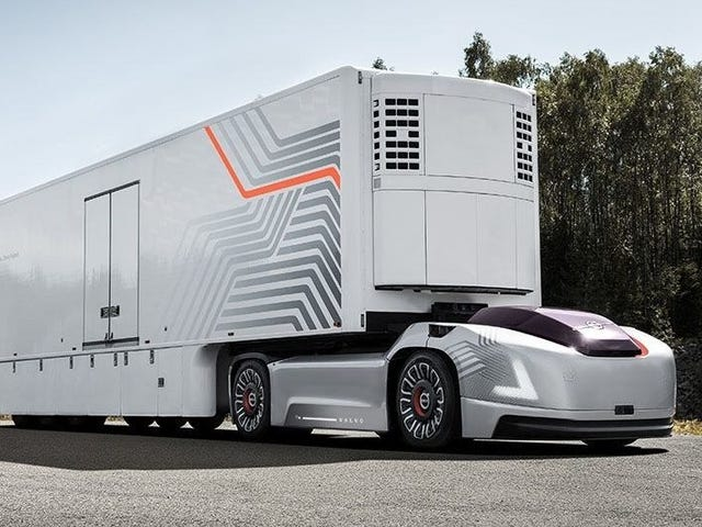 Volvo's Latest Autonomous Truck Concept Is Just Motors, Wheels and a Battery