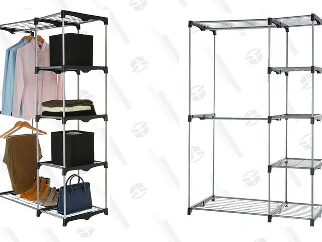 Add A Closet To Any Room With This $23 Freestanding Rack