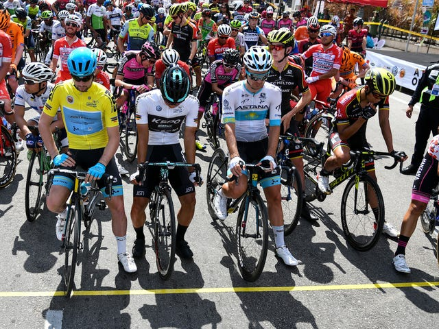Pro Cyclist Booted From Race For Using His Bike As A Weapon