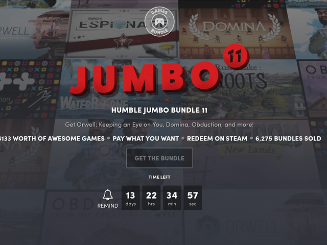 Expand Your Steam Library on the Cheap With Humble's Newest Jumbo Bundle