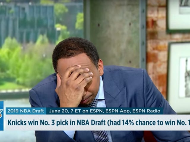 Stephen A. Smith Writes Emmy-Worthy Performance Out Of Knicks 'Lottery Agony