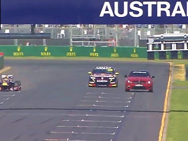 V8 Supercar vs F1 contre Mercedes