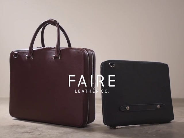 Maybe Almost Look Forward to Meetings With Faire Leather Co.'s Briefcases