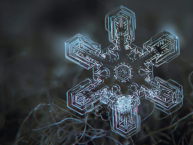 Hvorfor snø er hvit selv om snøflak er klart
