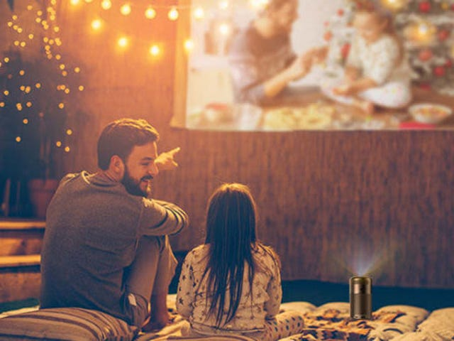 Host a Movie Night Anywhere With Anker's Soda Can-Sized Projector, Now Just $220