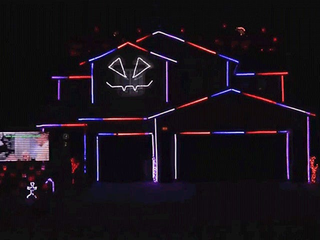 Spectacular Halloween Light Show Will Make You Glad You're Not This Guy's Neighbor