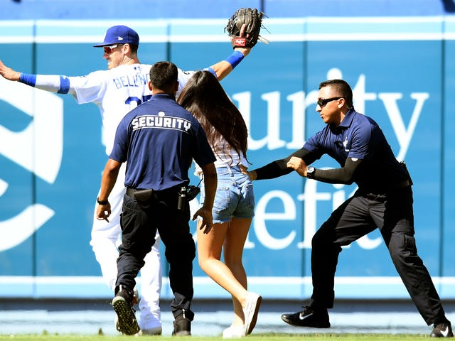 Public Service Announcement: Please Stop Interrupting Dodgers Games To Hug Cody Bellinger