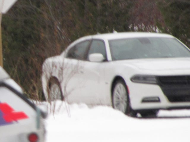 Chrysler in town again winter testing