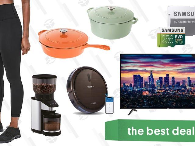 Tuesday's Best Deals: Cuisinart Cast Iron, Lululemon Leggings, TCL TVs, and More