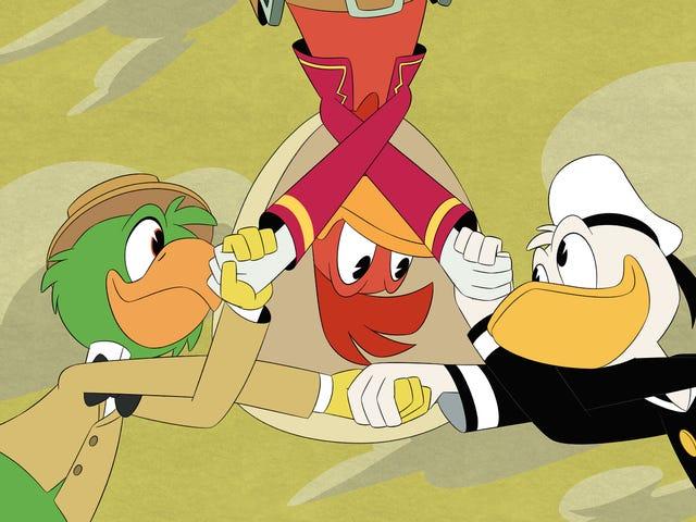 Nagsama-sama muli si Donald kasama ang kanyang dating Three Caballeros compadres sa isang wildly masaya at biswal na kamangha-manghang DuckTales