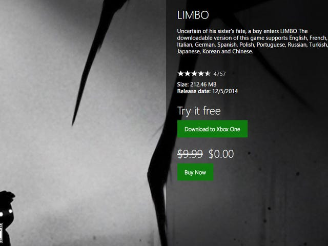 Limbo Is Currently Free On Xbox