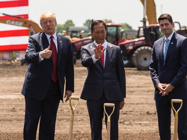 Foxconn's Plant in Wisconsin Could Be Scaled Back Despite President Trump's Promises