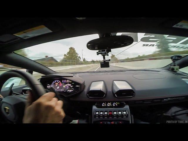 S'il vous plaît, laissez la vitesse de la Lamborghini Huracan déformer votre cerveau