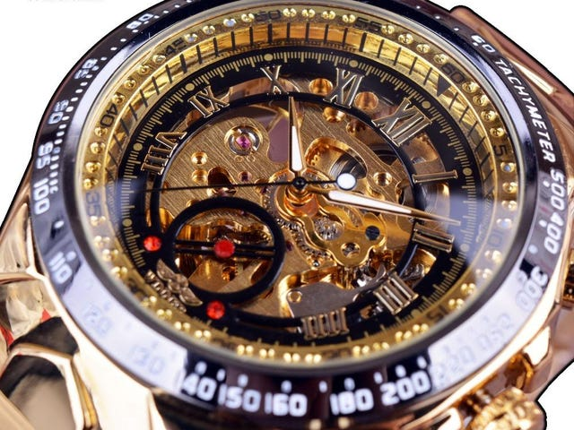 Luxury Men Automatic Skeleton Watch