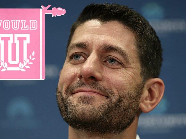Zou je seks hebben met de nieuwgebaarde Paul Ryan?