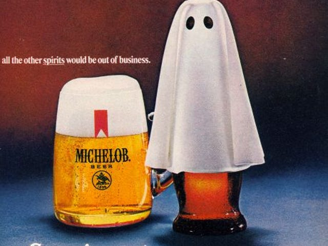 复古万圣节啤酒广告