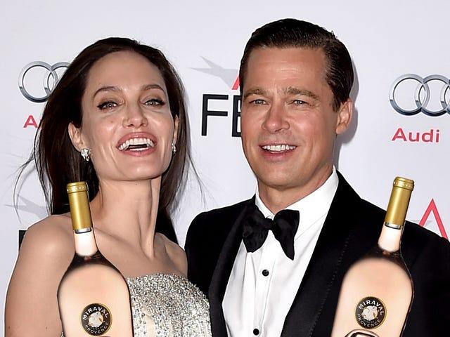 Pelo menos Brad e Angie ainda têm um negócio de vinho florescente