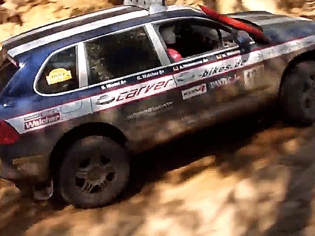 The World's Most Perfect Porsche Cayenne Is A Muddy, Rowdy Rally Beast