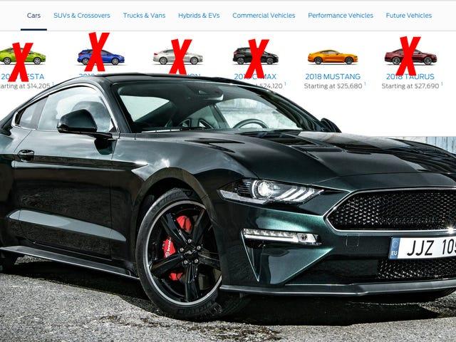 Ford éliminera progressivement toutes ses petites voitures et berlines en Amérique du Nord, à l'exception de la Mustang et de Focus