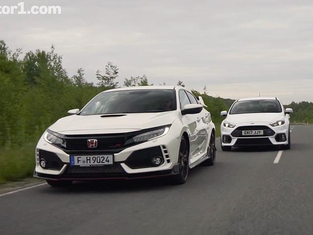 Εδώ είναι το Honda Civic Type R VS.  Ford Focus RS Showdown Έχετε αναρωτηθεί για το
