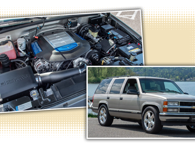 We All Need This Totally Normal Looking 1998 Chevy Tahoe With A 638 HP Corvette ZR1 Engine