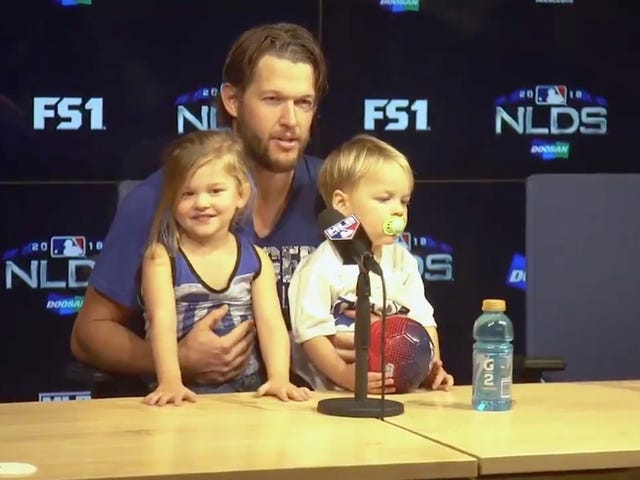 Clayton Kershaw's Tiny Adorable Kid Offers Good Take On Her Dad's Dominant Performance