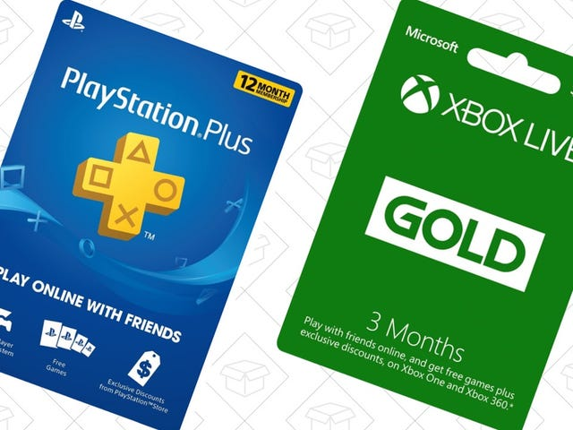 Re-Up Your PlayStation Plus and Xbox Live Gold Memberships With Some Black Friday Discounts