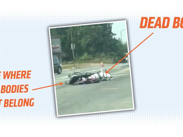 Мертве тіло прив'язане до Герні викидається з коронера Ван на вулицю