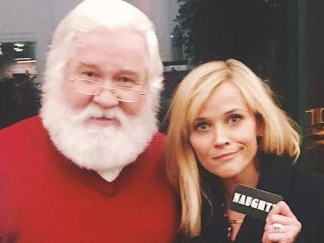 Naughty Reese Witherspoon Disappoints Santa Claus