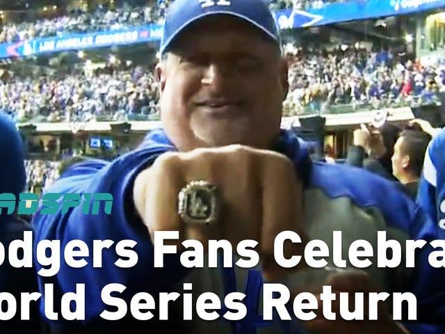 Aquí está el mejor y el más ruidoso de los fanáticos de los Dodgers en las noticias locales