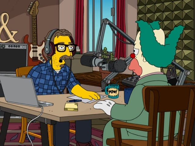 """<a href=https://news.avclub.com/lock-the-gates-marc-maron-s-interviewing-krusty-the-cl-1832607011&xid=17259,15700023,15700186,15700191,15700248,15700253 data-id="""""""" onclick=""""window.ga('send', 'event', 'Permalink page click', 'Permalink page click - post header', 'standard');"""">ล็อคประตู: Marc Maron สัมภาษณ์ Krusty The Clown บน <i>The Simpsons</i></a>"""