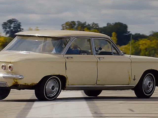 Brave Man Tries To Roll Himself Over In A Corvair And Miraculously Lives