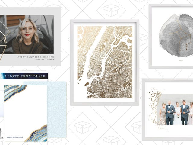 Add A Little Shine to Your Cards and Art With 20% Off Foil-Pressed Items at Minted