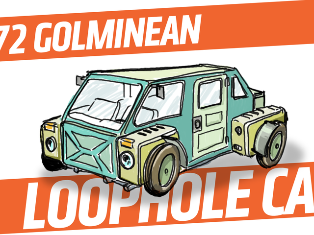 An Imaginary Car From An Imaginary Country: 1972 Golminean Loophole Car