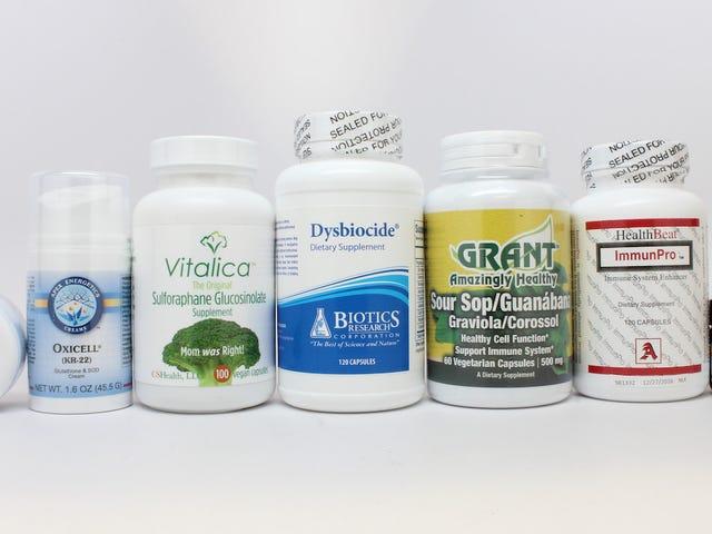 FDA正在破解14家公司销售假癌治疗