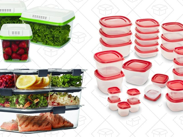 Upgrade All of Your Leftover Containers With These Deeply Discounted Rubbermaid Sets