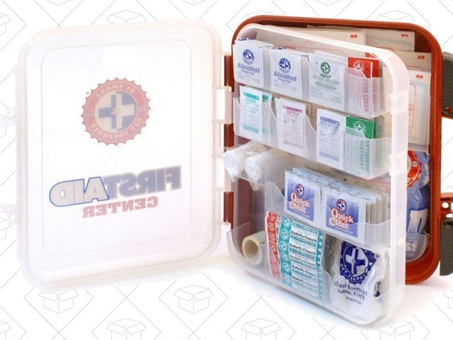 Hope For the Best, Prepare For the Worst With This Fully Stocked First Aid Kit, On Sale Today Only