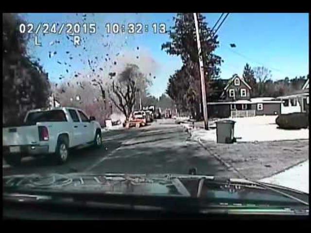 Explosión principal de gas masivo atrapada en Dash Cam, lesiones al menos 15
