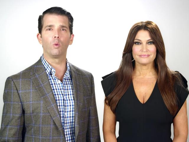 Don Jr. e Kimberly Guilfoyle portano il loro amore a questo annuncio su Rachel Maddow e Burning American Flags