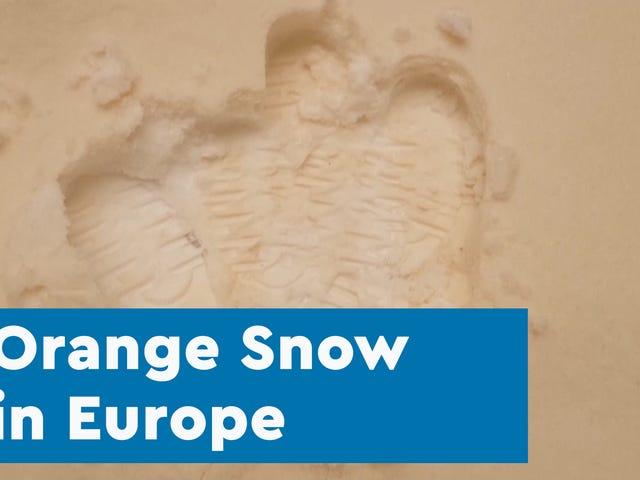 オレンジの雪がヨーロッパを火星の風景に変える[更新]