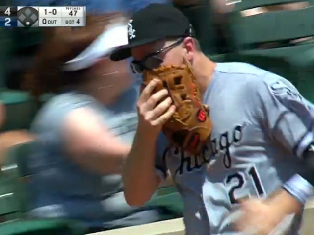 Todd Frazier Busted His Face Up Immersioni negli stand