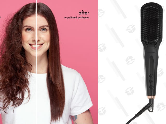 Forget Flat Irons. Brush Your Hair Straight With This Amika Tool For $96.